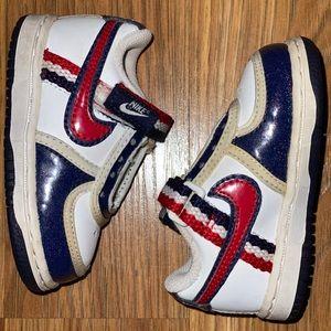Nike baby boy 4c patriotic sneakers red white blue